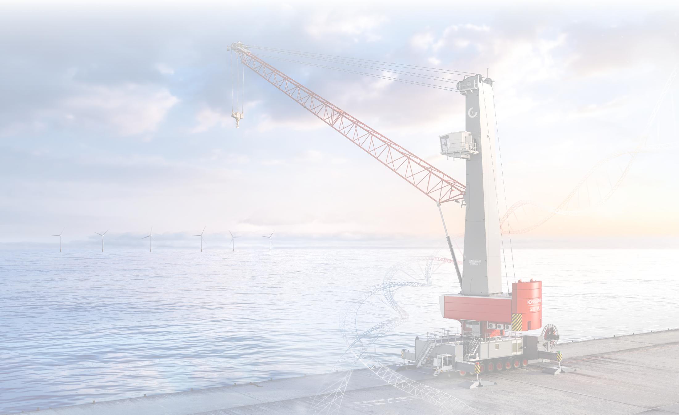 Konecranes Mobile harbour crane on the shore