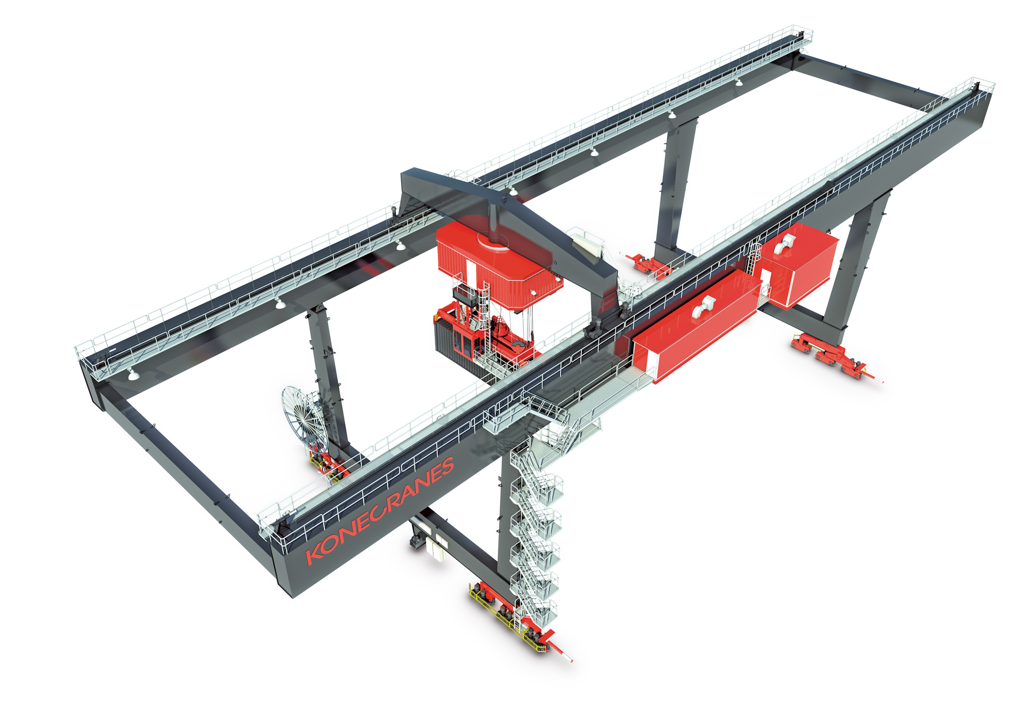 Kone Overhead Crane Parts : Konecranes breakthrough to intermodal terminals in