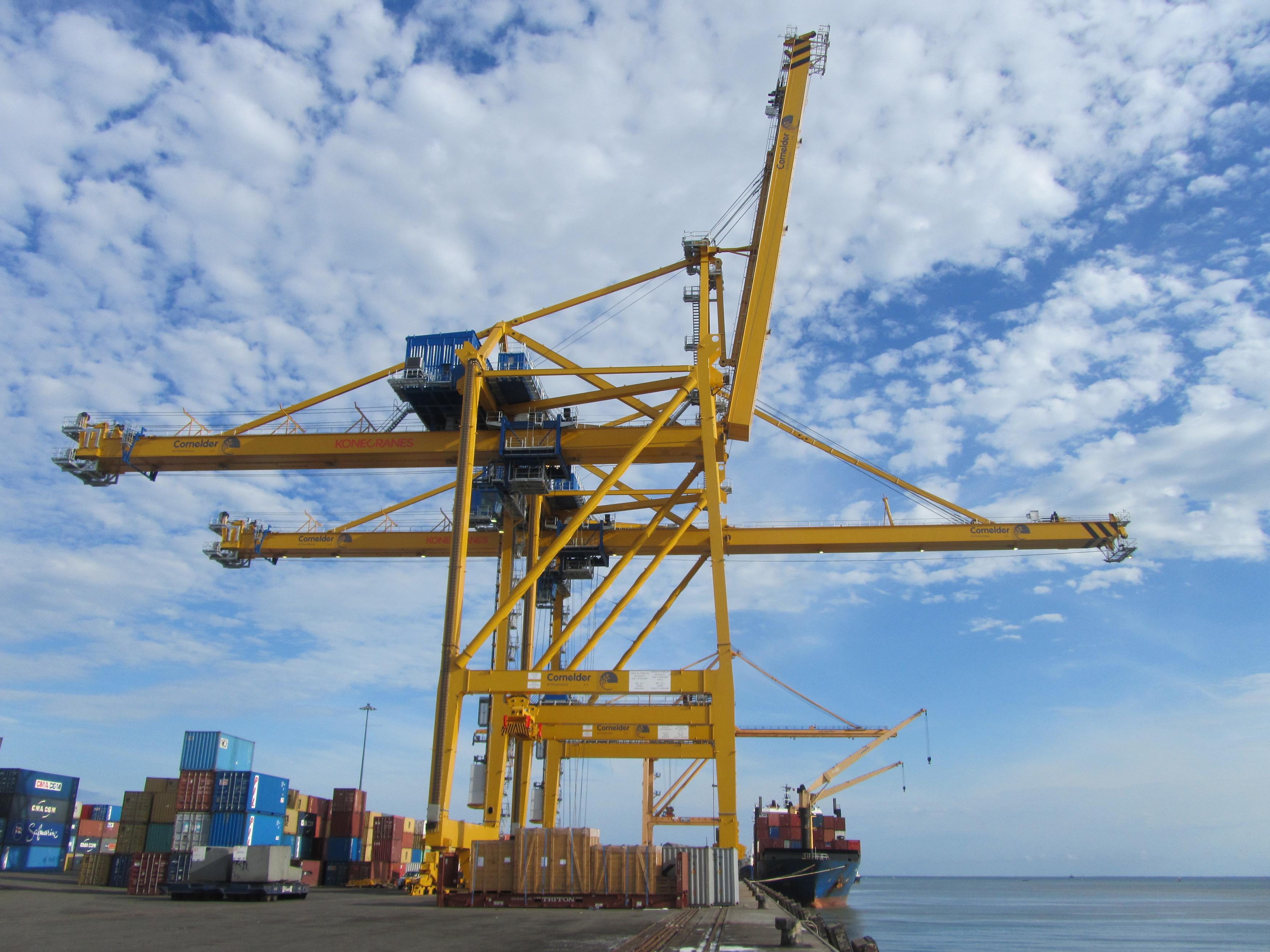 Konecranes Delivers Two Ship To Shore Cranes To Mozambique