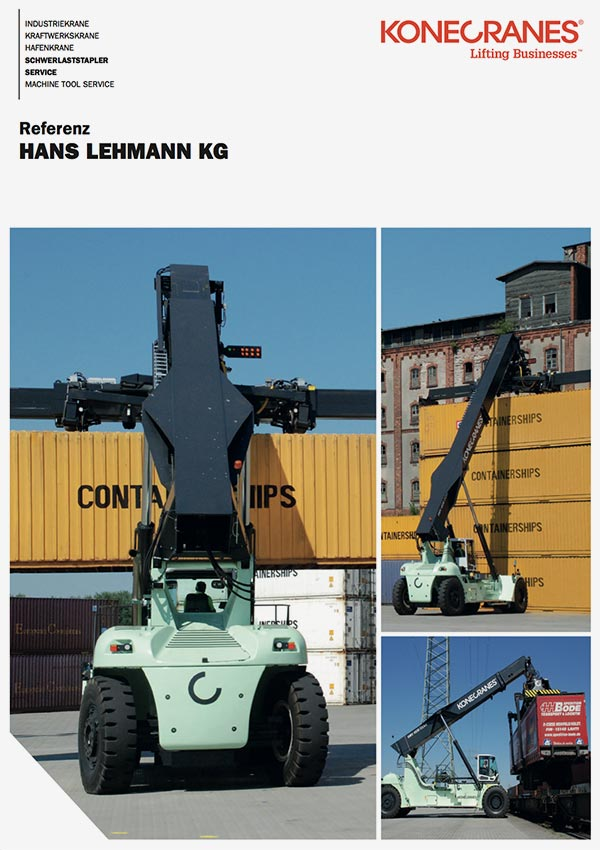 Reach Stacker Referenz Download Hans Lehmann KG