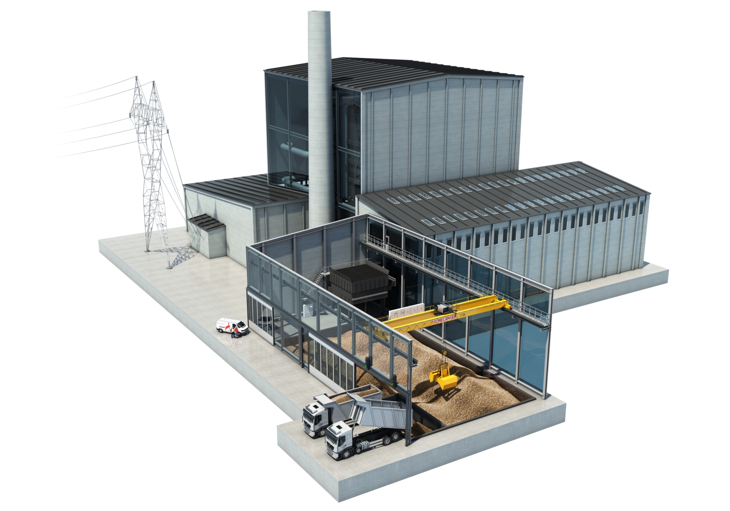 Biomass plant layout