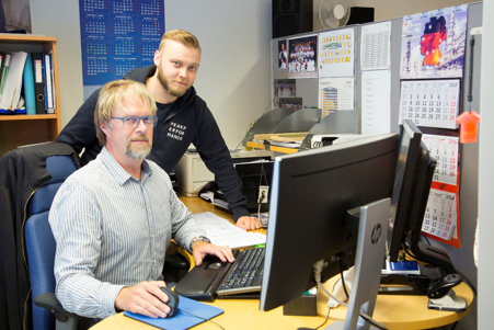 Technical Purchasers Vesa Kuusisto (Left), and Manu Hirvilammi use Agilon portal in their daily work.