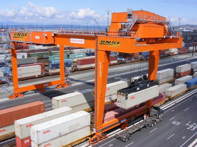 Rail Mounted Gantry Crane : Rail mounted gantry cranes konecranes