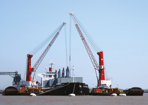 Konecranes Gottwald Cranes on Barge
