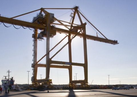 Konecranes' biggest widespan ship-to-shore crane to be delivered to Helsinki Terminal