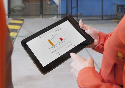 yourKONECRANES on tablet
