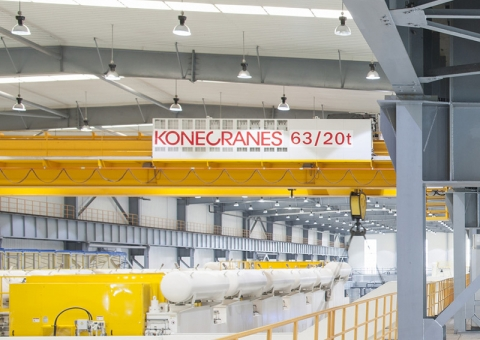 Konecranes equipment in an automotive facility
