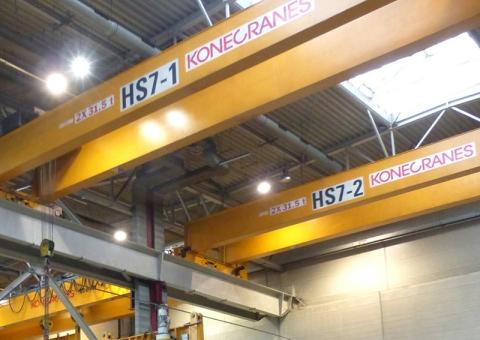 Konecranes equipment in manufacturing facility
