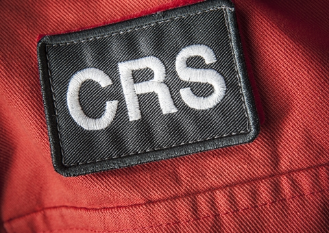 Konecranes technician with CRS patch