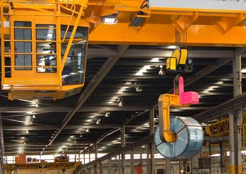 Overhead crane with operator cab