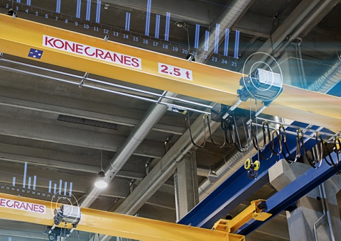 Remotely monitored overhead cranes