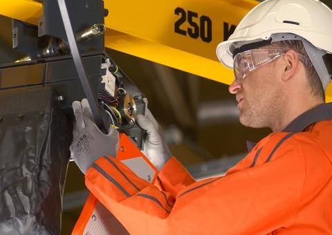 Technician services chain hoist