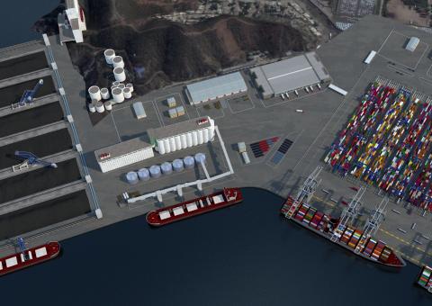 CGI Aerial of Terminal