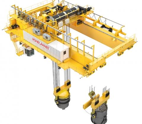 Double-girder ladle handling cranes | Konecranes